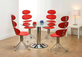 red dining room set glass top dining table with metal base red kitchen table and chairs set red contemporary dining room sets