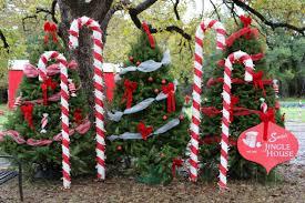 Candy Cane House Decorations Santa's Jingle House Santa Visits Round Rock Texas 41