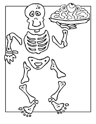 Small Picture Absolutely Smart Bone Coloring Page Free Printable Skeleton
