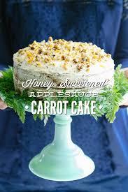 Honey Sweetened Applesauce Carrot Cake Live Simply