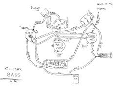 Climax bass wiring diagram from 1992 hand drawn by paul gagon
