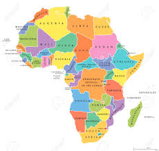 Vectors Political Own Single And Stock Image Free Royalty Its Each Cliparts Country Illustration With 62145827 Map States Africa