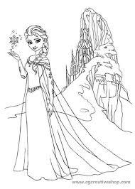 Elsa Di Frozen Disney Disegno Da Colorare
