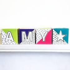 Baby Name Blocks Printable Letter Blocks For Nursery Abc Blocks