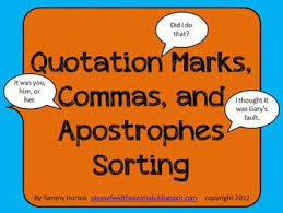 Sorting Quotation Marks Commas Or Apostrophes