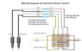 what does the lenco control box do the hull truth boating and here is the wiring diagram that lenco uses for installing there actuators a bennett switch the switch is two side by side double pole double throw