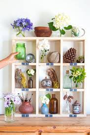 diy cubby wall shelf