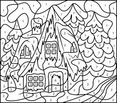 Color By Number Christmas Coloring Pages Free Printable Color Number