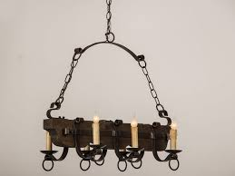living glamorous vintage wrought iron chandelier 24 old and wood black with candle vintage mexican wrought