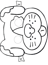 Printable Face Templates Unique Printable Elephant Masks Coloring Page Animal Template Farm