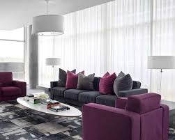 furniture color combination. purple sofa with cushions in gray color modern combination for living room design furniture r