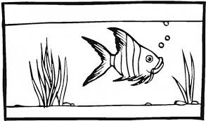 Small Picture Coloring Page Fish Tank Fish Tank For Angel Fish Coloring Page