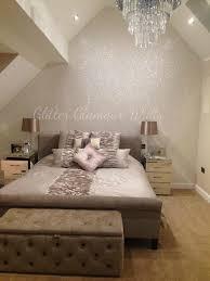 glitter wallpaper bedroom bedroom