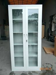 tall cabinet with glass doors tall cabinet with glass doors elegant innovative storage and drawers office