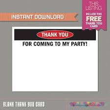 Free Downloads Thank You Cards Construction Invitation With Free Thank You Card Construction