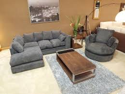 dylan jumbo cord charcoal grey corner sofa with matching swivel chair