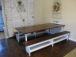 farm style dining room table benches with storage bench and nice furniture brown white color ideas