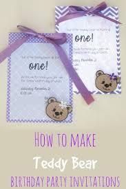 Make Birthday Party Invitations Lauras Plans Diy First Birthday Party Invitations Teddy Bear Theme