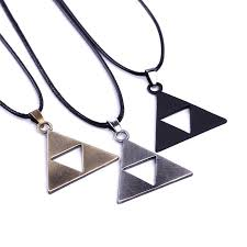 whole new anime the legend zelda the triforce necklace metal figure pendant necklace whole high quality jewelry fashion jewelry locket