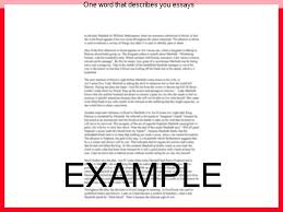 five words to describe you one word that describes you essays research paper academic service