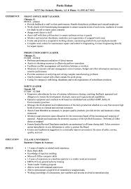 Group Leader Resume Example Shift Leader Resume Samples Velvet Jobs 12