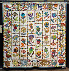 163 best KIM McLEAN QUILTS images on Pinterest | Quilt patterns ... & Sue Bee's Flower Garden by Sue Burnett of Wellington, New Zealand. Design  by Kim Adamdwight.com