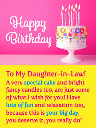 A Special Cake Happy Birthday Card For Daughter In Law Birthday