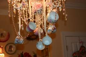 pink white teacup chandeliers by sherry s rose cottage