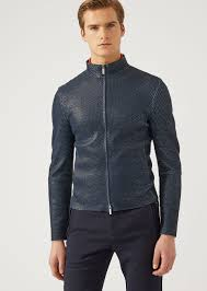 emporio armani leather jacket leather jacket u f