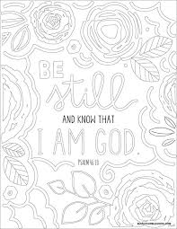 Be Still And Know That I Am God Downloadable Coloring Page From
