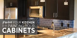 revive your kitchen by painting your cabinets
