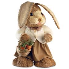 Rabbit Decorative Accessories National Tree Company 10000 in Brown Standing RabbitRAEJ10000A10000100 47