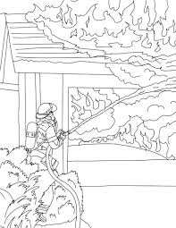 Small Picture Firefighter coloring pages fighting house fire ColoringStar