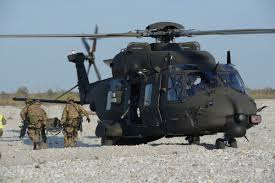personnel recovery an italian army uh 90 crew trains for a personnel recovery sortie