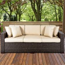 outdoor furniture wicker. Fine Furniture Best ChoiceProducts Outdoor Wicker Patio Furniture Sofa 3 Seater Luxury  Comfort Brown Couch Amazonca Patio Lawn U0026 Garden To P