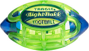 Nerf Rocket Pass Light Up Football Tangle Nightball Glow In The Dark Light Up Led Football Green With Blue