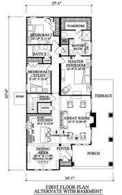 images about Bungalow floor plans on Pinterest   Floor plans    This square feet bungalow style bedroom  bath   garage stalls falls