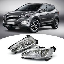 2013 Santa Fe Fog Light Replacement Details About 1 Pair Led Drl Daytime Running Fog Light Fit For Hyundai Ix45 Santa Fe 2013 2015