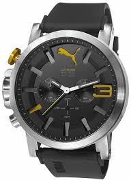 men s puma ultrasize black and yellow silicone chronograph watch pu103981003 10 gif men s puma ultrasize black and yellow silicone chronograph watch pu103981003