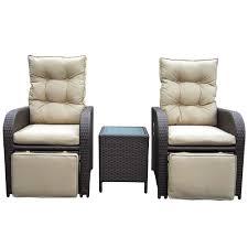 luxo mykonos twin outdoor recliner set brown australia