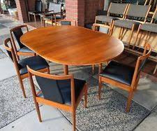retro parker extendable table 6 dining chairs recovered