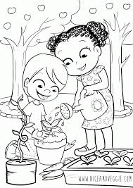 Small Picture Kids Gardening Coloring pages for children Nice and Veggie