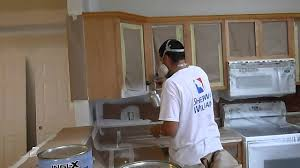spraying cabinets with airless sprayer. Cabinet Painting Refinishing And How To Using Graco Sprayer YouTube Spraying Cabinets With Airless