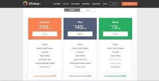 web table design. 8. Litmus\u0027 Pricing Table Design Web