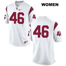 reid name. reid budrovich womens stitched usc trojans white authentic nike no. 46 college football jersey - no name