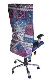 unique office chair. Signature Office Chair With Hand Embroidered Fabric Unique U