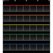 Teacher Chart Storage Black Storage Pocket Chart