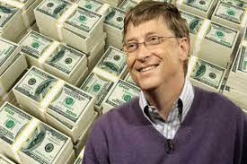Bill Gates is so rich, he earns $128 per second from just his savings'  interests!