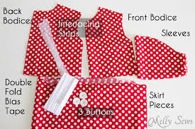 Free Baby Dress Patterns Impressive Free Girls Dress Pattern Minnie Mouse Birthday Melly Sews