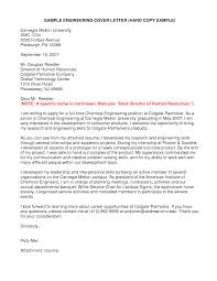 Ideas Of Sample Cover Letter For Chemical Engineering Internship On